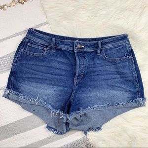 Hollister High Rise Boyfriend Stretch Denim Shorts